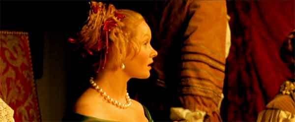 la luce calda dal film